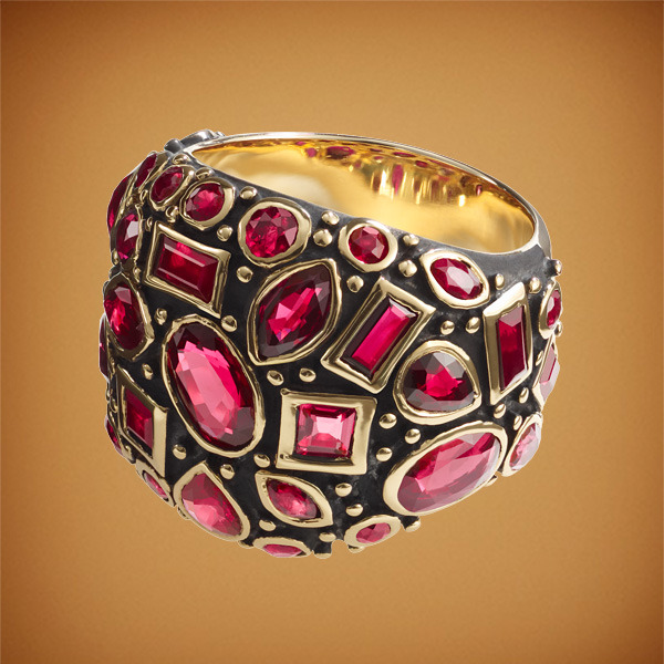 Ari oxidized ruby ring - Misahara