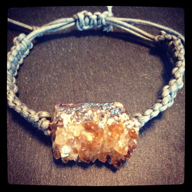 Citrine bracelet completed, record set at 50 mins…. Got to get faster at this!