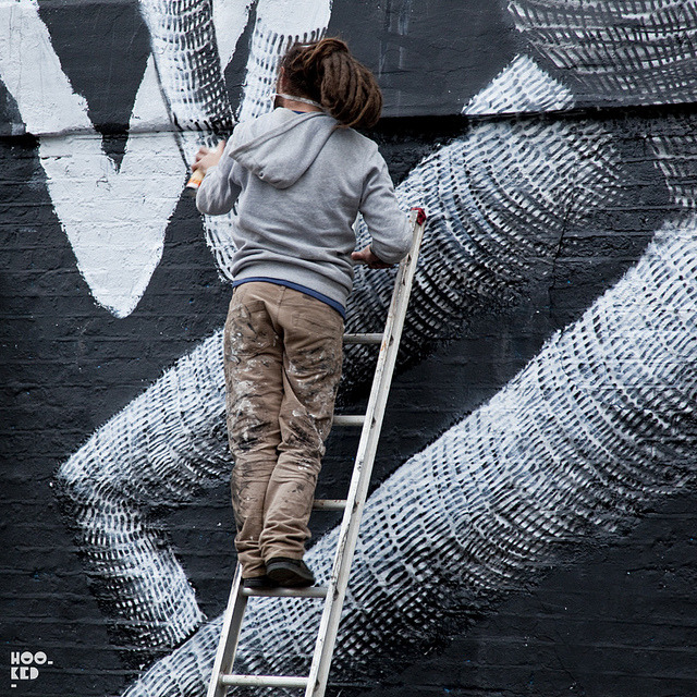 Phlegm - Work in Progress on Flickr.New work from Phlegm in London. More here: http://www.hookedblog.co.uk/2013/01/phlegm-new-london-mural-in-progress.html