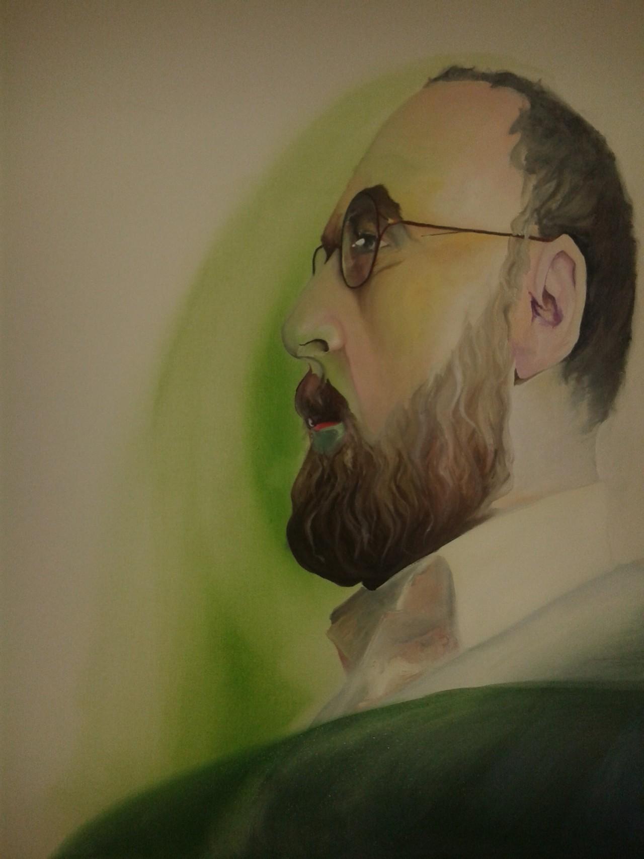 taunuswolf:  Mein schönstes Geschenk zum 60. Geburtstag. Ein Porträt, gemalt von Hannah Bayer, entstanden im Atelier von Anika van Vught (Mephistopholes)