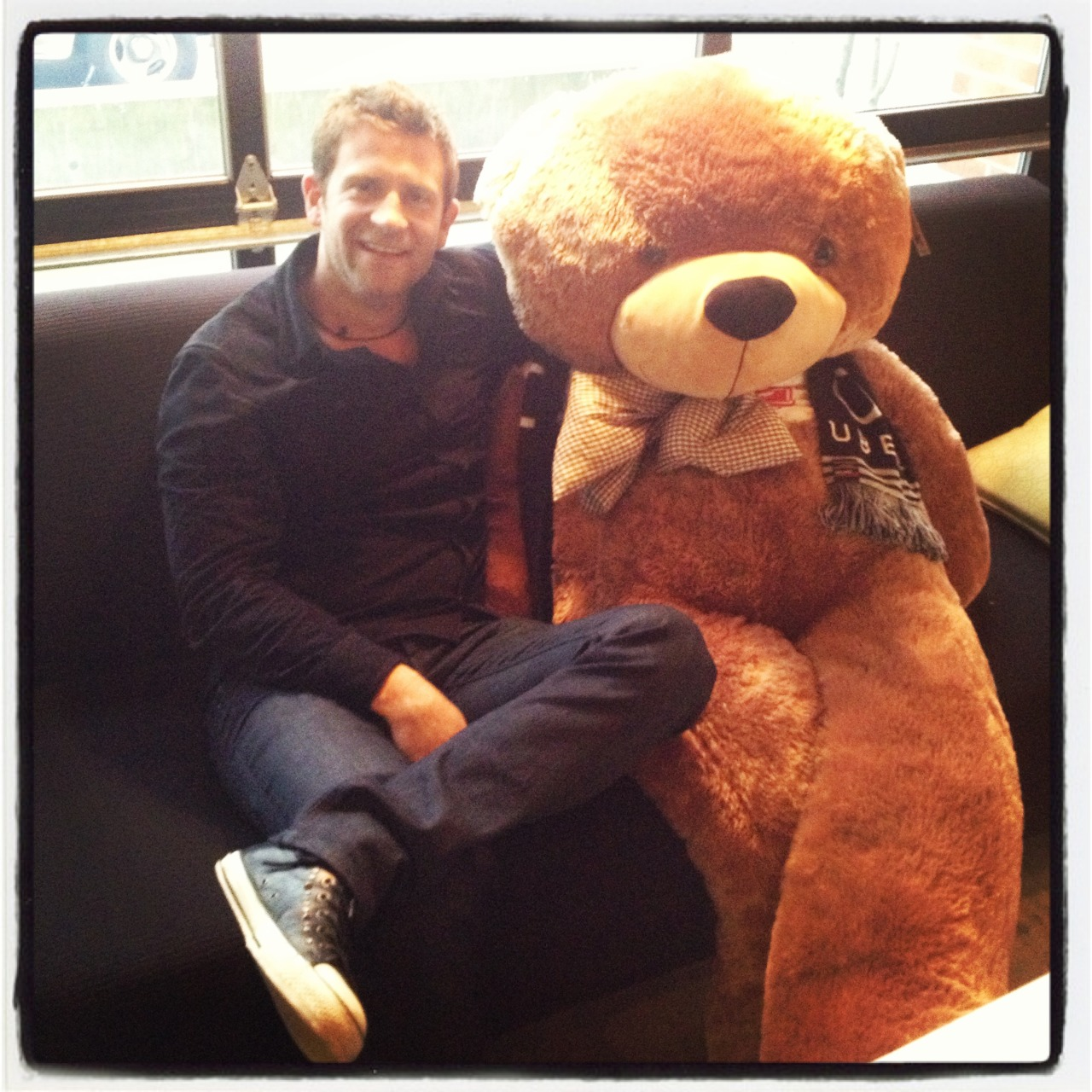 Mr. Chase Jarvis hangin' out with one of our Ubears in Seattle!
