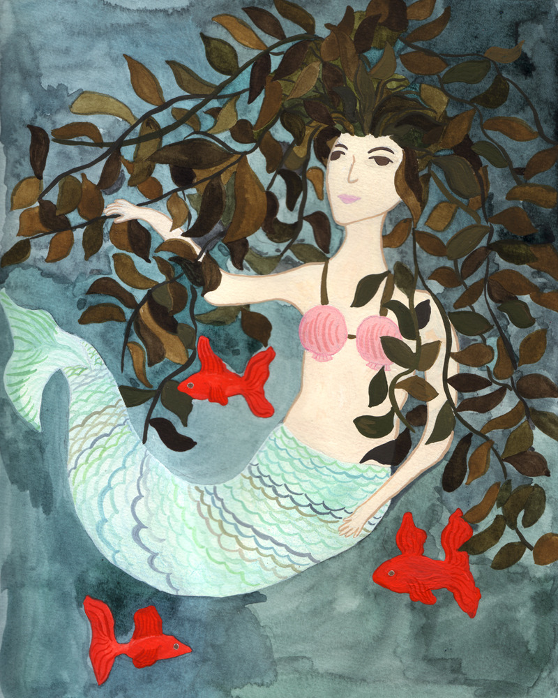 A painted mermaid I did for fun.