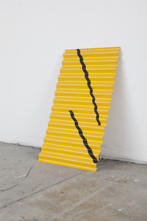 objectmaking:  Corrugated Steel 40x24. Installation View. eli kerr. 2013 via objectmaking.net