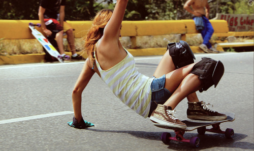 Derrape on Flickr.Longboard girl yaw cotamil caracas