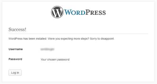 WordPress - Issues a sarcastic apology for having a too short installation process. /via lgfischer