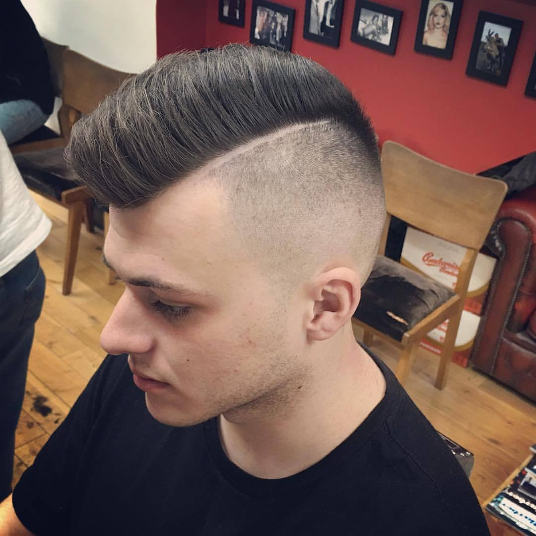 Bucks Barbers — Disconnected cut into a skin fade by ...