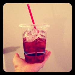 To-groni: a to-go Negroni, because sometimes our friends' parties just have handles of Smirnoff.   (One part sweet vermouth, one part Campari, one part Plymouth gin, zero parts shame.)