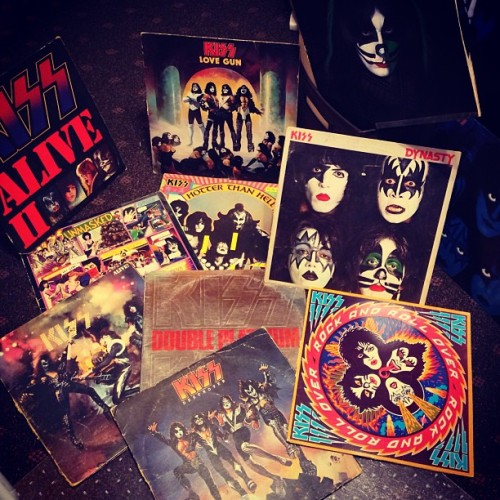 Day 139: #365underfoot Recovered my #KISS #vinyl collection. #lookdown