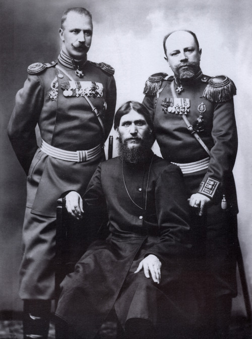 "absentmindedfools: We all know that Rasputin was one handsome devil. Don't kid yourself.  ""There's no disputin, I just love Rasputin. When our teacher told us to turn our books to his chapter, and a big picture of him popper up, I just couldn't concentrate on the rest of the lesson. I couldn't take my eyes off his beautiful bearded face. When I heard that he solicited sexual favors from women, I felt an extreme uncontrollable jealousy. That night I went to bed with my history book and read the chapter on Rasputin, curtains drawn, candles lit and a Barry White record playing""  Yahoo Answers ""I feel a strange sexual attraction to Rasputin of Russia?"""
