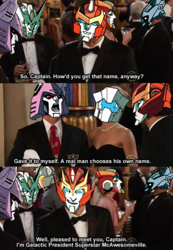 derpscream:  Cyclonus giving Rodimus lessons in how to be a real man. It didn't work out too well.