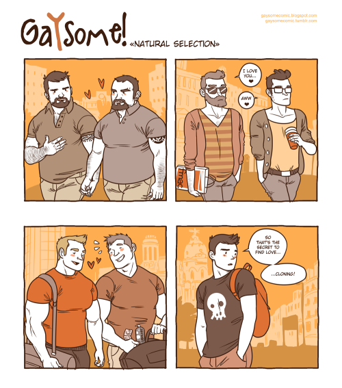 gaysomecomic:   22. Natural selection   sad.. but true..