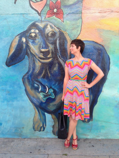 modcloth:  We're loving this Style Gallery pic of our co-founder and CCO, Susan, in a showy chevron of candy-bright hues, boldly belted and beautifully shot. These terrific red T-straps are perf for stylishly scouting locations like this one, right? Get inspired by how our community creates a variety of lovely looks with their chevron staples. Dig out your zigzag faves, and share an image here!