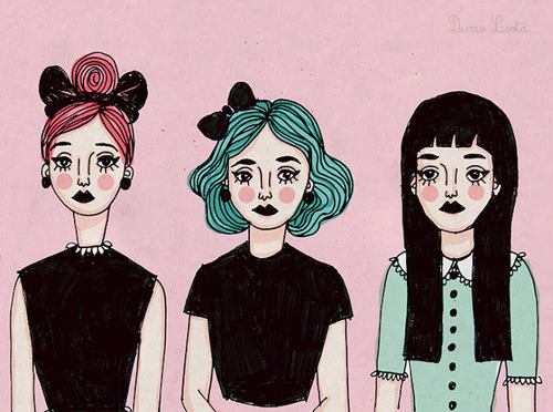 3 Girls on We Heart It - http://weheartit.com/entry/61712298/via/laurieleelias   Hearted from: http://favim.com/image/633225/