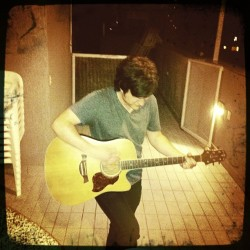 Just so @matthewstaylor doesn't feel left out, here he is rocking the acoustic on a Brazilian rooftop circa January of '11.  #TBT