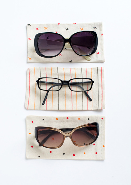 DIY sunglasses pouches via Poppytalk