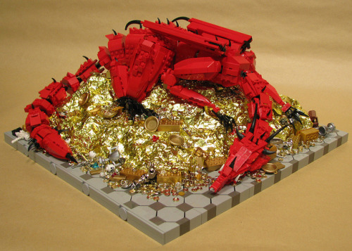 laughingsquid:  LEGO Smaug, Inspired by J. R. R. Tolkien's 'The Hobbit'