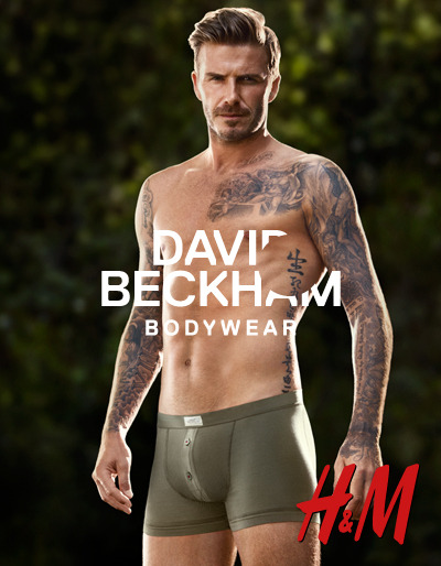 David Beckham Bodywear for H&MDavid Beckham Bodywear is available exclusively at H&M. Check it out at hm.com  YES.