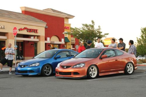 toomuchcamber:  Lollicup meet with the homies a couple years back. Marvin's car (the orange one) and Todd's (blue) both sitting pretty on Regamasters.