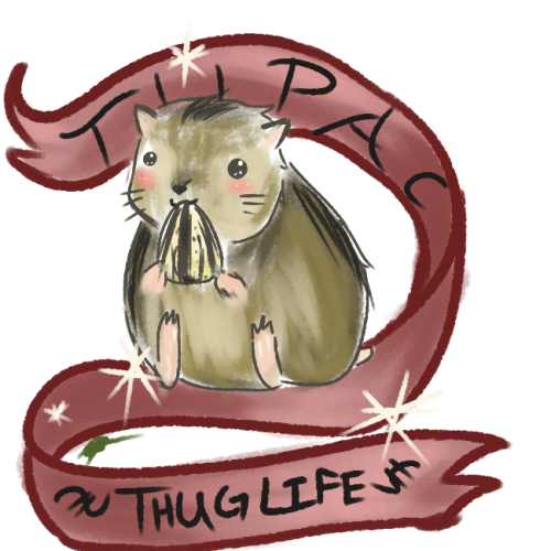 Tupac the Hamster! from the stream, for ellenseyes~