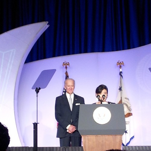 Judy Chu and Joe Biden at the #APAICS gala. #APAHM2013