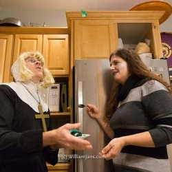Brain tossed in the air, soon to be consumed by a nun.⠀⠀#halloween #costume #Vancouver #silly #brain #jello