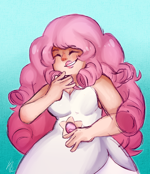Anonymous said: Draw Rose Quartz Answer: i don't really draw SU characters but this was fun