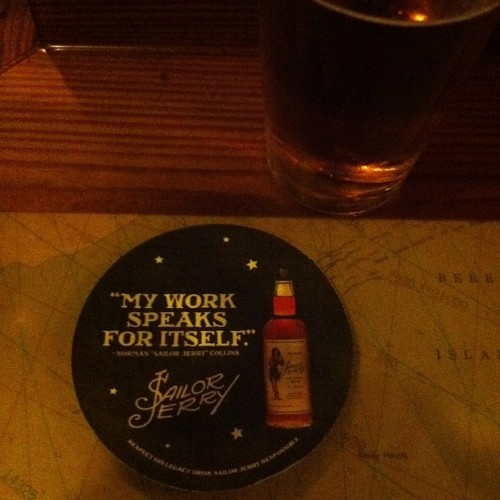 I'm drinking this now. #sailorjerry oh Nevermind I just read the name.  Sticking to whiskey.
