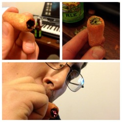 your-pot-blog:  Baby carrot=perfect substitute one hitter. need more weed?