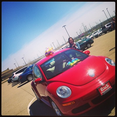 @97maddog checking out her new ride :)