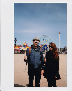 me & aaron. coney island, march 2013. photo by megs.