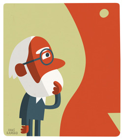 "xaviramiro:  New Press Illustration: ""Freud i el déu amb pròtesi""New illustration for El Punt Avui newspaper. Columnist: Maria Dolors Renau (Article in catalan).htt…View Post"