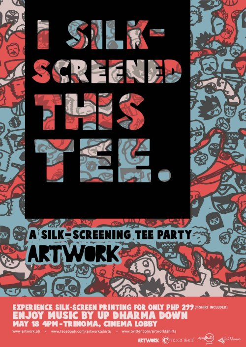 Another year of silk-screen tee party event! :)