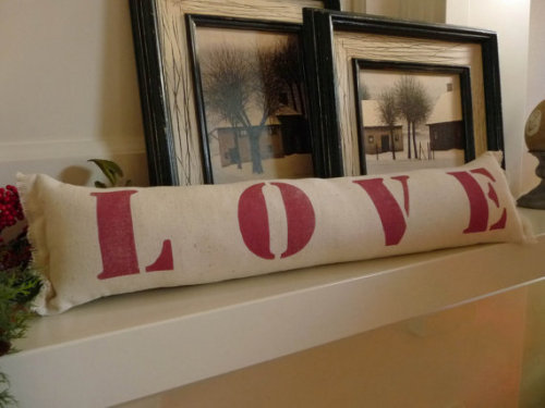 Love Pillow Valentine Pillow Valentine Gift by AnnadaisyDesigns