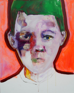 darksilenceinsuburbia:  Patricia Derks. Green Boy. Oil on canvas.