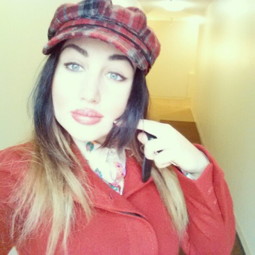 Little Red riding hood is my #patronus. #me #plaid #hat