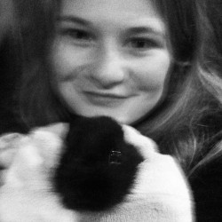 #me and my #baby #bunny Her #name is #Galaxy #Riverstone #Juliette #Amelia #Van #Sky  lol of course without the hash tags…just want as many ppl as possible to see my bunny ^_^