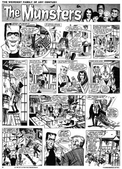 The MunstersWeekly comic strip from Great Britain (1965)