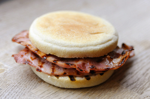 vintagefoods:  Bacon Bap (by Honey Photography)