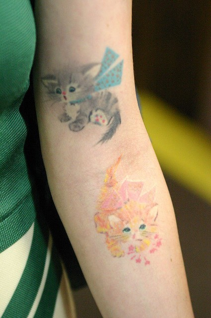 best-tattoos:  cute cats