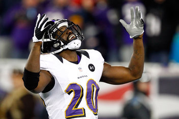 """For Baltimore!"" — Ed Reed, who finally gets his well deserved ring."