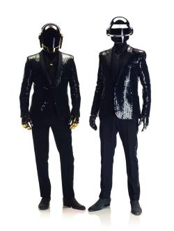 nprfreshair:  Ken Tucker reviews the new album from Daft Punk, Random Access Memories:  I freely admit that, until the new Random Access Memories, I wasn't much of a fan. I could appreciate the craft and imagination that went into creating the French duo's mixture of electronic genres — techno, house, disco — but the mechanical repetitions and heavily filtered vocals didn't turn me on in any other way. But now, Thomas Bangalter and Guy-Manuel de Homem-Christo have come up with an album that exposes the human side of their musical impulses. It's the equivalent of removing the helmet-masks the pair invariably wears in public performances. Random Access Memories is a collection filled with music that suggests mad romance, heartache and an embrace of the past that's never merely nostalgic or sentimental.  Image courtesy of Sony Music