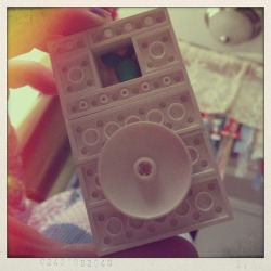 "LEGO iPod. I love the ""Apple"" touch."