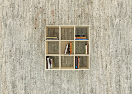 unsunglory:  Squaring Movable Bookshelf  I'll take it