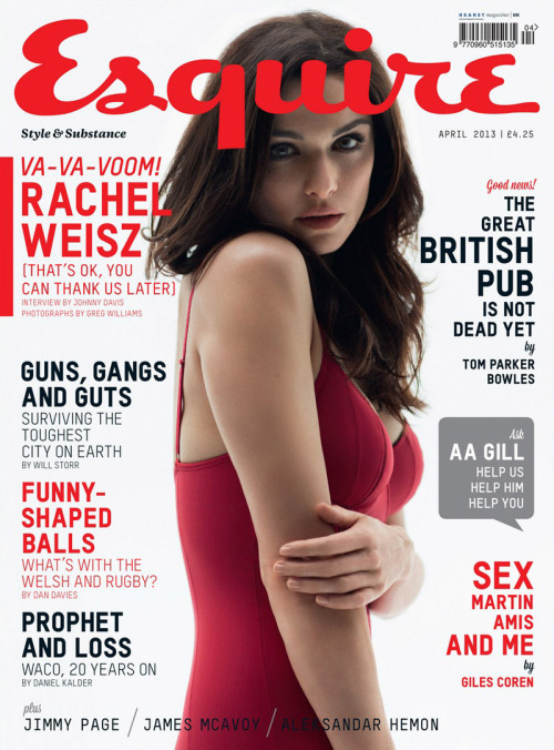 UK Esquire April 2013 Rachel Weisz