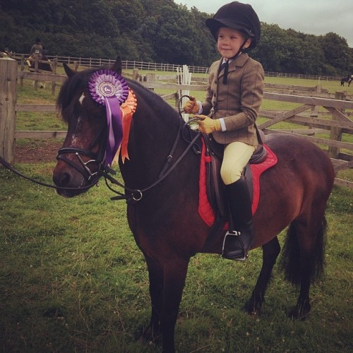 The lovely Mr Elvis and Isla having a blast at the local show - despite the rain!