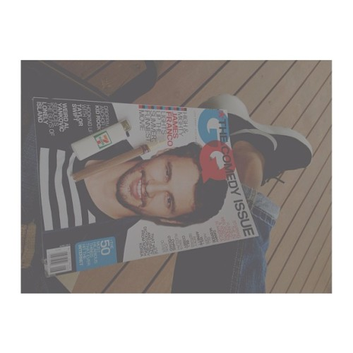 peaceful daily reading✔ #gq #jamesfranco #gqmagazine
