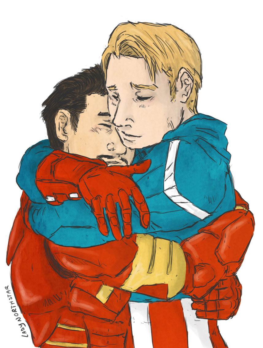 Tony+Steve: happy you're alive by ~LadyNorthstar