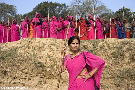 "talesfromthebroomcloset:  If you haven't seen Pink Saris I strongly urge you to.  It's an amazing documentary and Sampat Pal is such a badass I wanna be just like her.At one point in the movie she said something to the effect of ""Cops have no power over me!  I once beat up a cop!""She is my new hero."