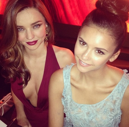 welovepinknation:  Miranda and  Nina Dobrev