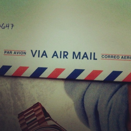Sending my response via air mail.